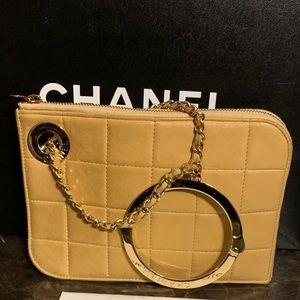 Authentic vintage chanel handcuff clutch RARE